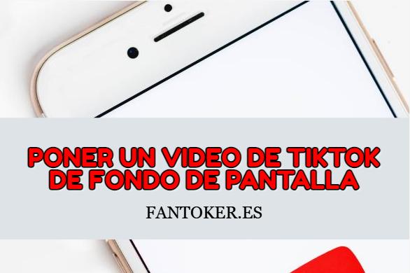 ¿Cómo poner un video de Tik Tok de fondo de pantalla?
