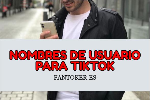 Nombres de usuario para Tik Tok